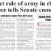 No direct role of army in elections, Ghafoor tells Senate committee